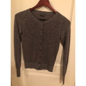 Express Sparkly Button Down Sweater